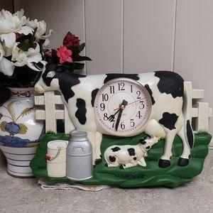 VTG 50's ERA Laurel Farm House Kitchen Cow Clock
